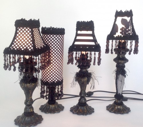 Lampes de table-noirs&blancs